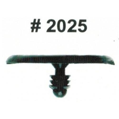 Комплект клипс для автомобилей Nissan, черные, 15 штук (Ø отверстия 5.5 мм, Ø шляпки 29.4 мм)