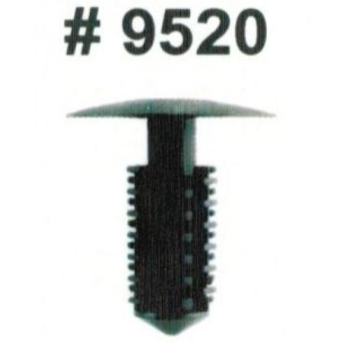 Комплект клипс для автомобилей GM, черные, 25 штук (Ø отверстия 8 мм, Ø шляпки 5/8)