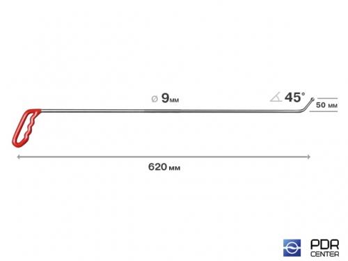 Крючок с шариковым наконечником (Ø 9 мм, длина 620 мм)