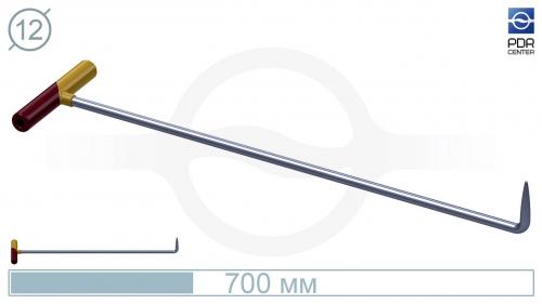 Крючок №9n Длина общая 75 см. Длина загиба 5 см, угол загиба 90° .Ø11 мм.