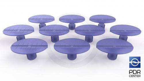 Клеевые грибки Wurth, фиолетовые, овальные (комплект из 10-ти штук)