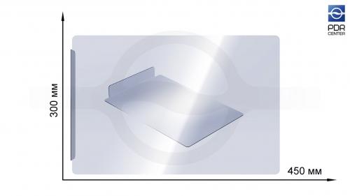 Прозрачный защитный экран 450х300 мм