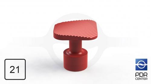 NUSSLE PROFI Пистоны для минилифтера, квадратные (21 мм * 21 мм, красные)