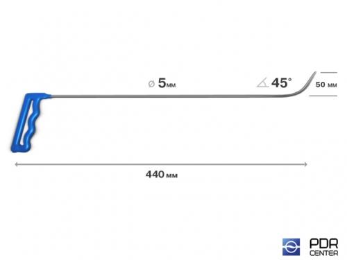 Крючок № 02 (Ø 5 мм, длина 450 мм, желтый)