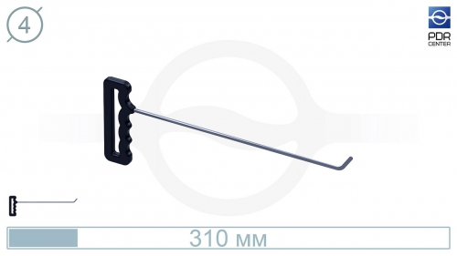 Крючок со стандартным загибом, плоский (длина 30 см, угол загиба 45º, длина загиба 25 мм, Ø 5 мм)