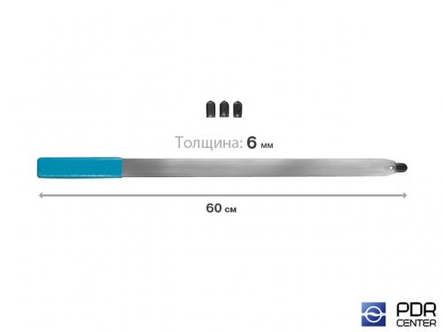 Рессора плоская с накончником под винтовые насадки и насадку A36H (длина 60 см, толщина 6 мм)
