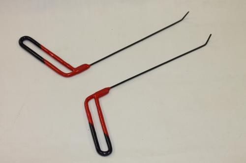 Пара Ø 3 мм, длина 270 мм,угол загиба 45º.