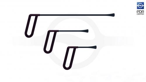 Набор из трех инструментов для работы под усилителями КТ-3