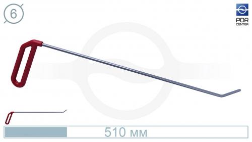 Крючок левый угловой, плоский (длина 51 см, угол загиба 45º, длина загиба 35 мм, Ø 6 мм)