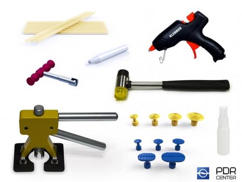 Набор PDR инструмента для самостоятельного удаления вмятин без покраски средний