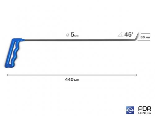Крючок № 01 (Ø 5 мм, длина 465 мм, желтый)