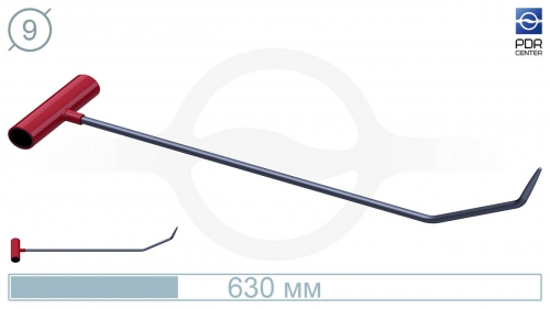 Крючок с двойным загибом, закруглённый (длина 60 см, Ø 9 мм)