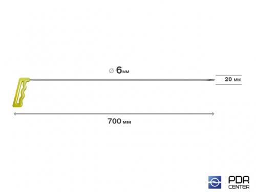 """""""Ласточкин хвост"""", длинный (плоский, длина 755 мм, фиолетовый)"""