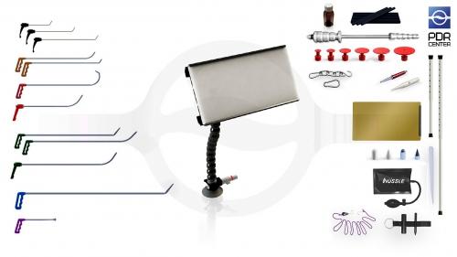 Малый набор с мобильной LED лампой Ultra Dent (12 крючков, 4 насадки, 11 аксессуаров, клеевая система, мобильная лампа)