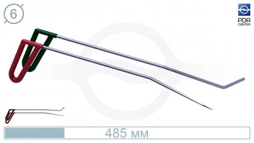 Крючки PDRC-15 (Пара) Длина 45 см, длина первого загиба 13 см, угол загиба 10º Длина второго загиба 5 см 45º. Ø7 мм.