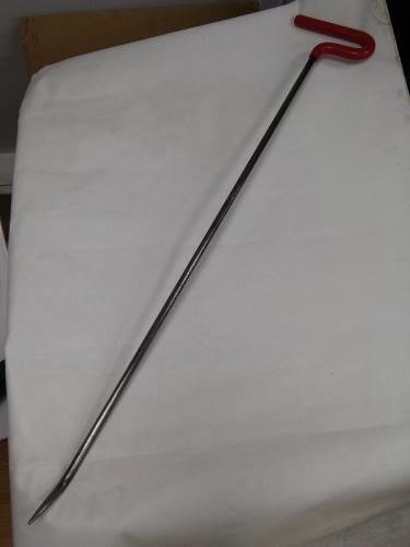 Крючок со стандартным загибом, стандартный кончик (длина 1010 см, длина загиба 60 мм, Ø 13 мм)