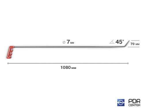 Усиленный крючок для крыши и дверей (Ø 7 мм, длина 1080 мм)