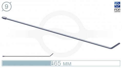 Крючок со стандартным загибом, плоский (длина 865 мм, угол загиба 45°, длина загиба 8 см, Ø 9 мм, без ручки)