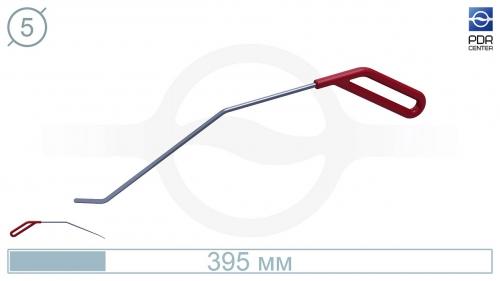 Крючок правый угловой, плоский (длина 30 см, угол загиба 45º, длина загиба 28 мм, Ø 5 мм)