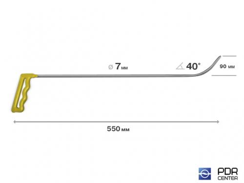 Крючок № 06 (Ø 7 мм, длина 570 мм, красный)