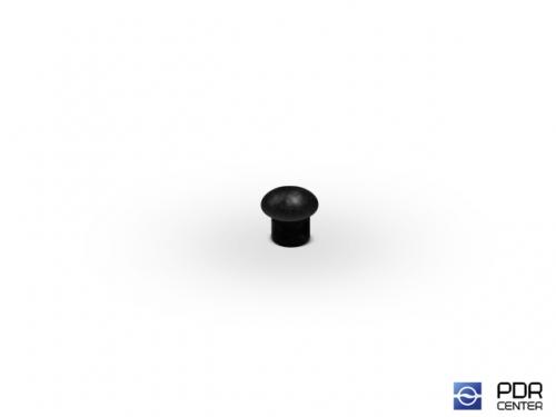 Заглушки твёрдые из черного пластика (Ø 4 мм, без шляпки)