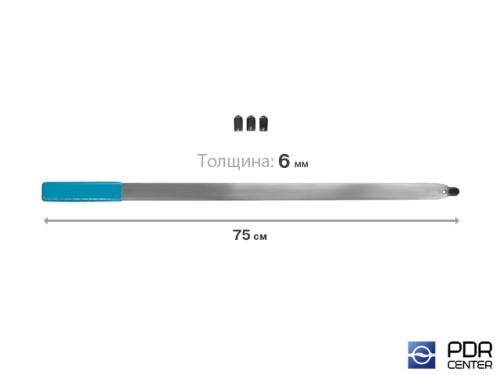Рессора плоская с наконечником под винтовые насадки и насадку A36H (длина 75 см, толщина 6 мм)