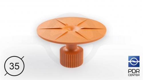 Клеевой грибок круглый, оранжевый (Ø 35 mm)