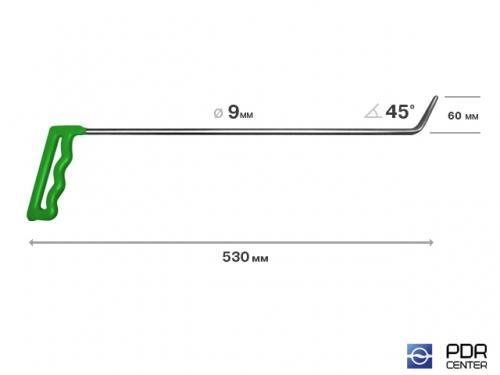 Крючок № 08 (Ø 9 мм, длина 540 мм, зеленый)