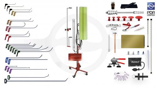 Большой набор с большой двойной лампой (24 крючка, 4 насадки, 14 аксессуаров, клеевая система, большая двойная лампа)