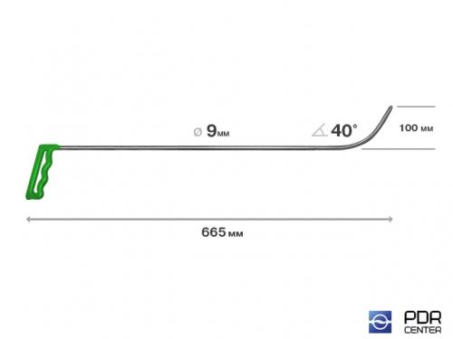 Крючок № 11 (Ø 9 мм, длина 700 мм, зеленый)