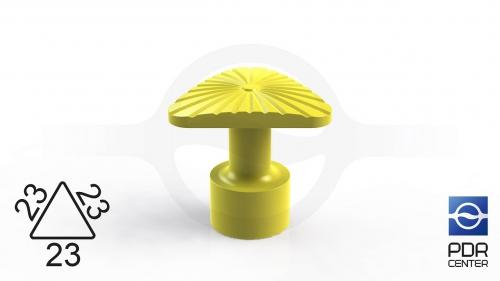 Клеевой грибок NUSSLE SUPER, треугольный, 23*23*23 мм