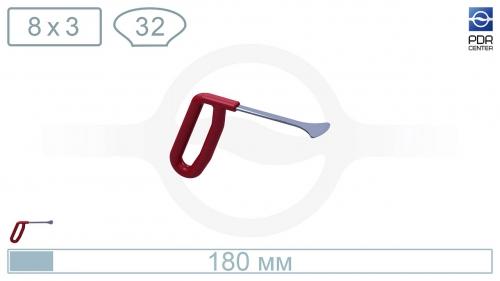 Крючок из нержавеющей стали Широкий китовый хвост, длина 18 см, ширина головы 32 мм