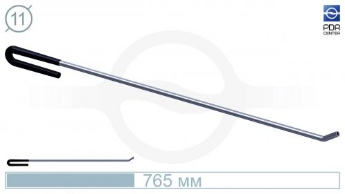 Крючок с загибом 35º под винтовые насадки (длина 76,5 см, угол загиба 35º, Ø 11 мм)