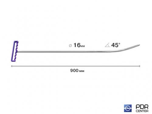 Берта малое закругление (длина 90 см, угол загиба 45º, Ø 16 мм)