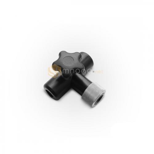 Фиксатор для лампы (черный, пластиковый, Т-образный)