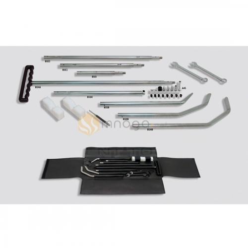 Комплект разборных крючков Ø16 мм (8 частей крючков, комплект насадок, 2 пластиковых упора, 2 гаечных ключа, керн, кожаный чехол)
